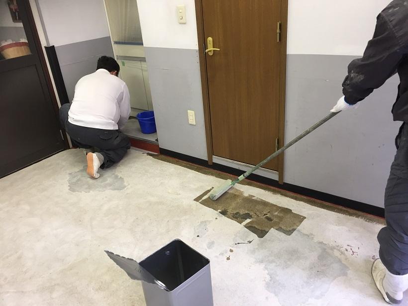 東京都文京区本郷の物流機器メーカー倉庫|床塗装工事:ケミクリートEペースト工法