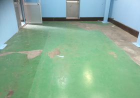 埼玉県戸田市美女木の工場 床塗装工事:エポキシ樹脂塗床を施工