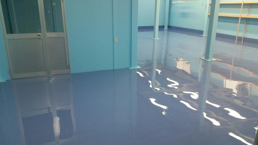 埼玉県戸田市美女木の工場|床塗装工事:エポキシ樹脂塗床を施工