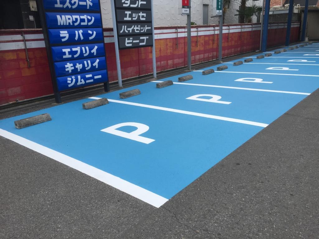 深谷市池田自動車駐車場床塗装