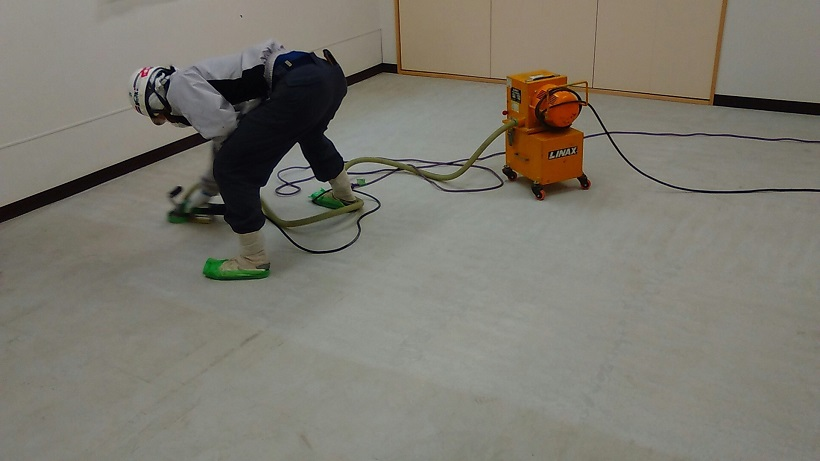 東京都墨田区向島の資材倉庫|床塗装(塗床)工事:カラートップDL、ビューコート