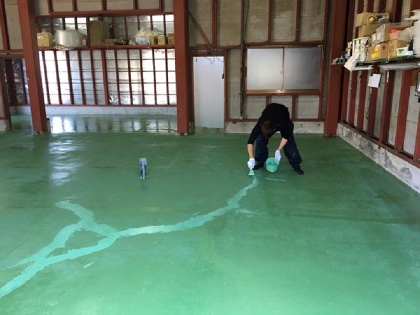 埼玉県八潮市 パソコン再生工場|床防塵塗装工事:ケミクリートEPカラー