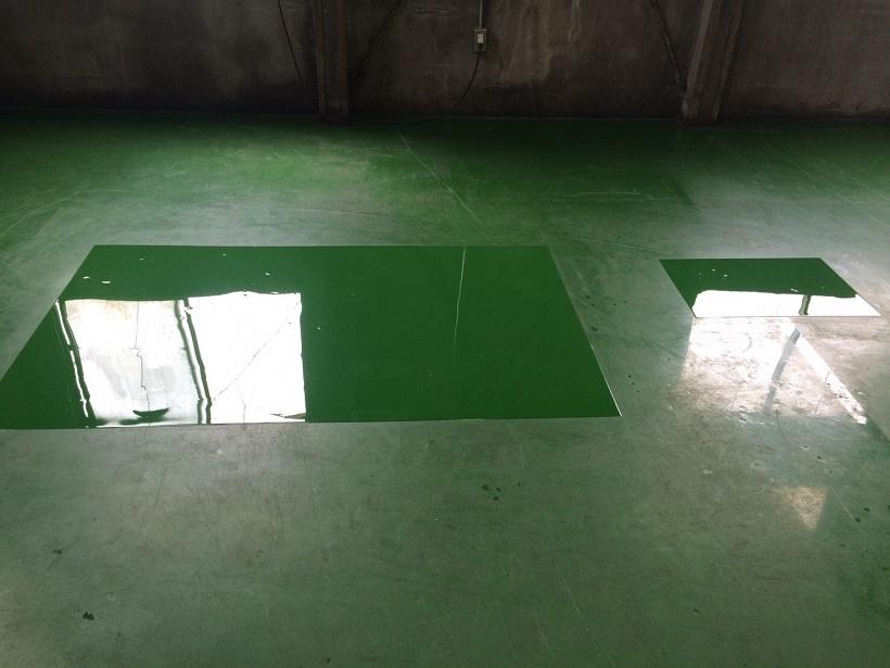 神奈川県横浜市のクリーニング工場 塗床補修工事:ケミクリートE