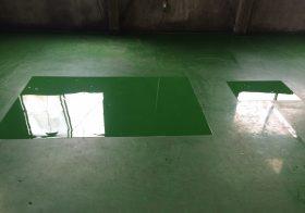 神奈川県横浜市のクリーニング工場|塗床補修工事:ケミクリートE