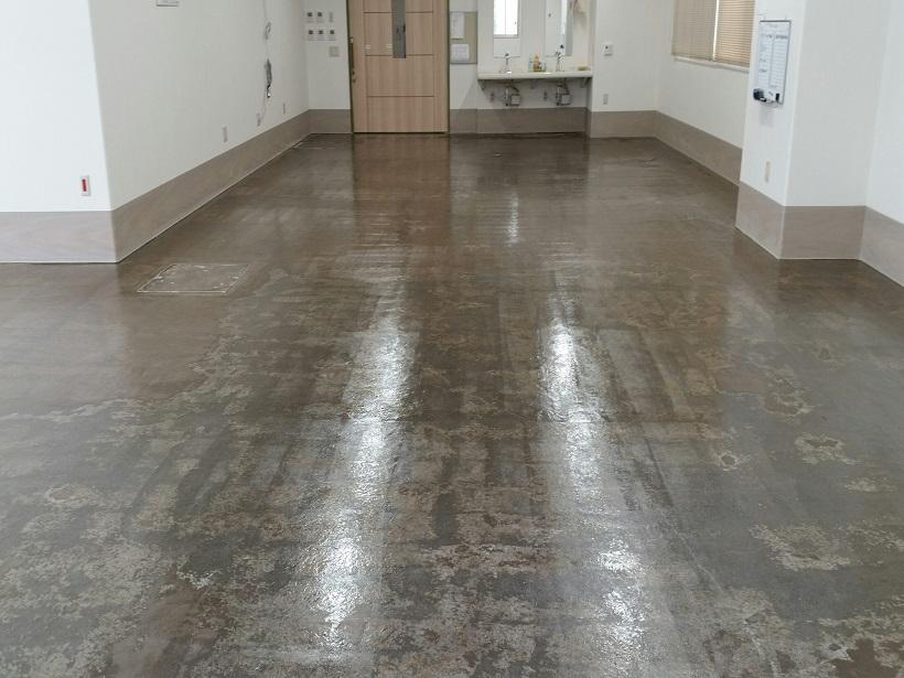 東京都葛飾区の軽作業工場|床塗装(塗床)工事:ジョリエースE厚膜流しのべ工法