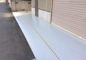 埼玉県所沢市の倉庫|床塗装(塗床)工事:ユータックR