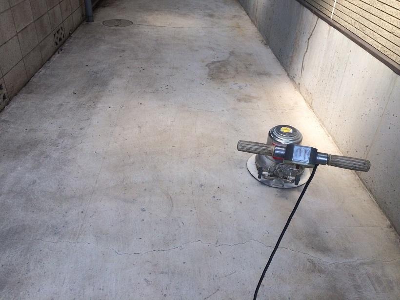 埼玉県所沢市の倉庫 床塗装(塗床)工事:ユータックR