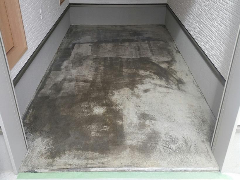 茨城県竜ケ崎市の個人邸|ガレージ(駐車場)床塗装(塗床)工事:ケミクリートE