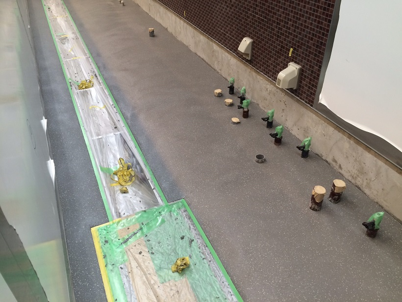 東京、秋葉原のラーメン店|厨房に水性硬質ウレタン塗床:タフクリートMHを施工。