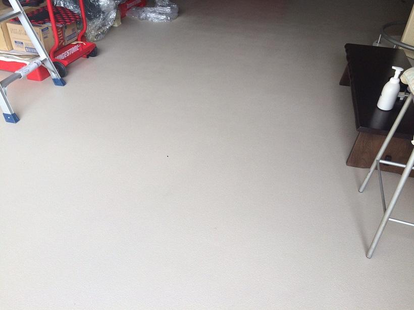 東京都江戸川区の個人邸ガレージ塗床