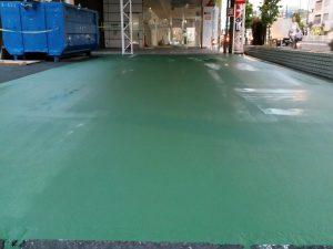 東京都板橋区の自動車展示場床塗装
