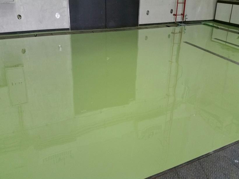 茨城県常総市の工場エポキシ樹脂塗床工事