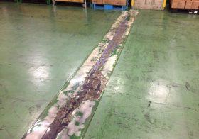 東京都大田区大井ふ頭の倉庫床|塗床(床塗装)補修工事:MMA ケミクリートMS