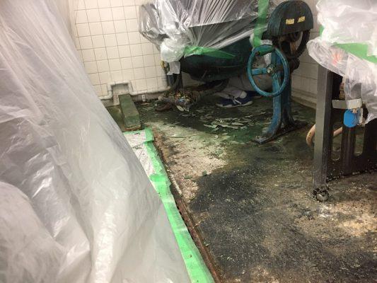 神奈川県厚木市のスーパー|厨房塗床(床塗装)改修工事:水性硬質ウレタン