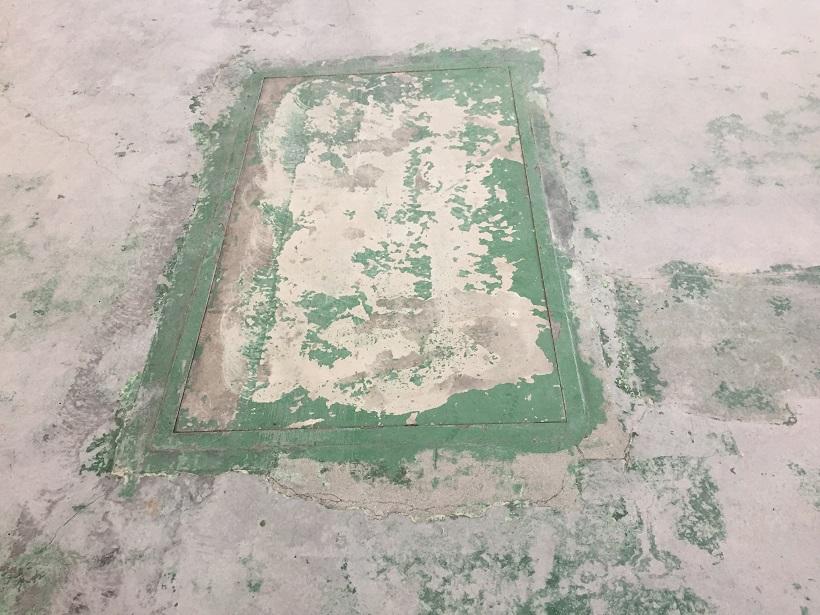 茨城県常総市の工場コンクリート床塗装施工前