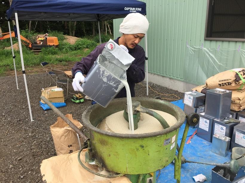 茨城県水戸市のライスセンター|エポキシ樹脂床塗装工事:ジョリエースE薄膜コーティング
