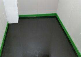 東京都江東区新木場|工場危険物庫に帯電防止塗床(床塗装)工事