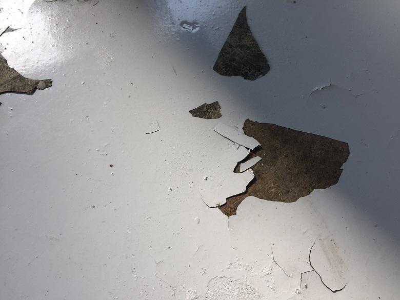 鴻巣市の工場床塗装工事前