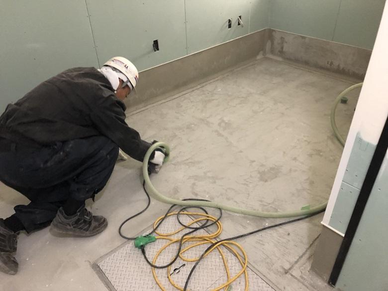 東京都国分寺市のスーパーマーケット|厨房のコンクリート床塗装工事:タフクリートMH