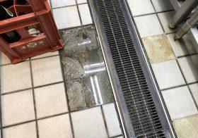 東京都港区芝にある飲食店の厨房|床タイル剥離を塗床材で補修:タフクリートMH