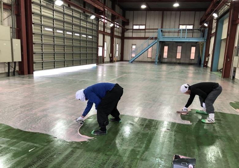 埼玉県川口市東領家の工場|塗床工事:ジョリエースE薄膜コーティング工法