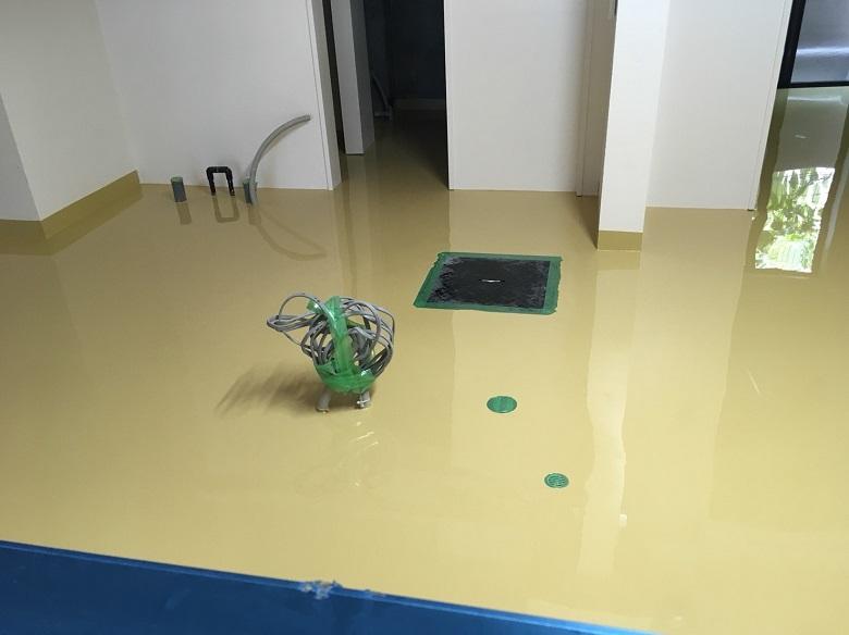 ベーカリー厨房の塗床