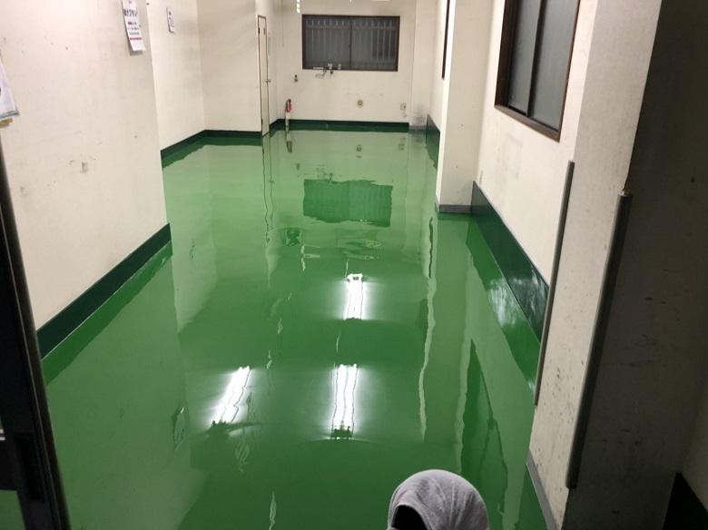 東京都中央区人形町のブラザーズ様|倉庫のPタイルを剥がして塗床へ改修:ケミクリートE