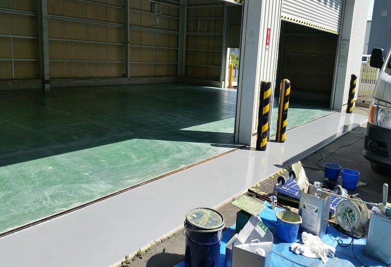 東京都練馬区の倉庫の塗床