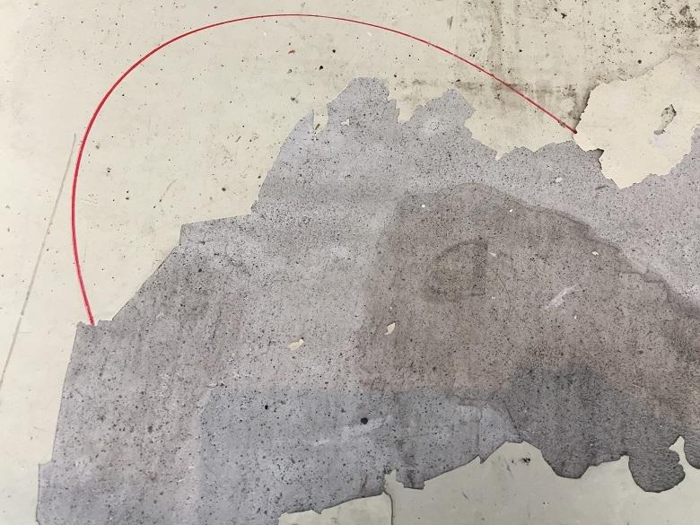 ガレージ(駐車場)塗床の剥がれ