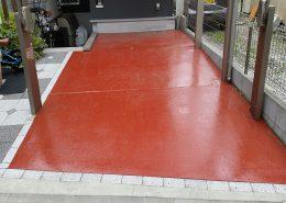 東京都大田区のガレージ(駐車場)床塗装工事