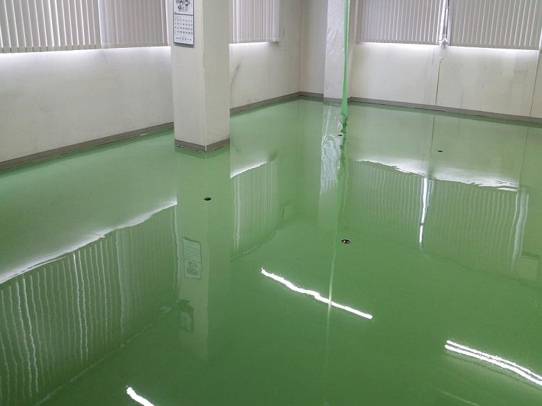 東京都八王子市の電子機器工場の帯電防止塗床(ケミコンダクトS-10)
