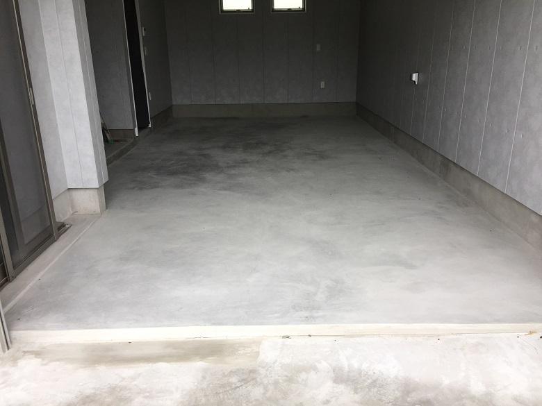 埼玉県戸田市のガレージハウスに塗床(床塗装)工事