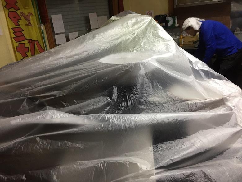 神奈川県横浜市磯子区の飲食店(スタミナカレーの店バーグ様)|厨房塗床(床塗装):耐熱ピュールM7工法
