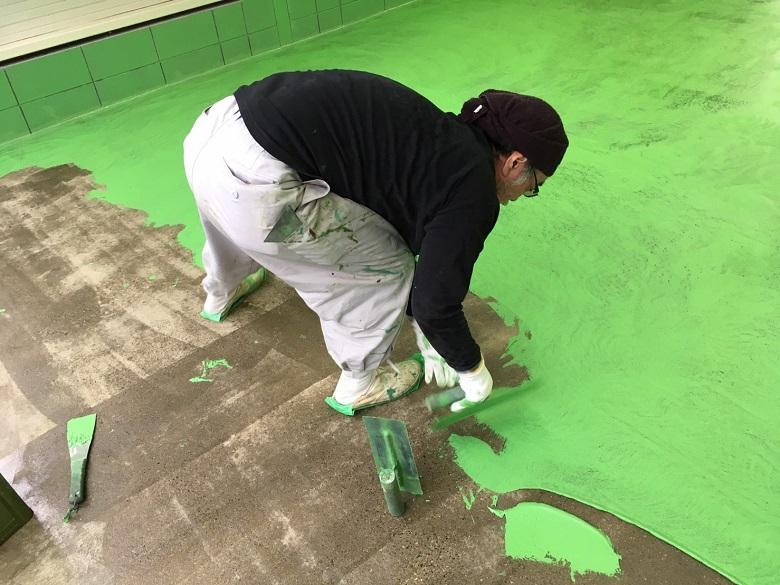 埼玉県川口市榛松のアートフォース様(自動車整備工場)|デントリペア工場塗床(床塗装工事):ジョリエースE