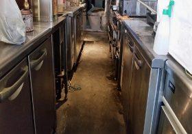 神奈川県茅ケ崎市幸町のABCバル茅ヶ崎様(飲食店)|厨房塗床(床塗装)工事:ケミクリートE