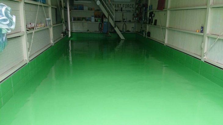 デントリペア工場床塗装