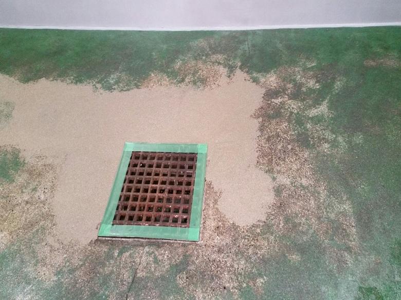 東京都品川区の和食料理店(飲食店)|ゴミ置き場コンクリート床改修:タフクリートMH・ケミクリートMS