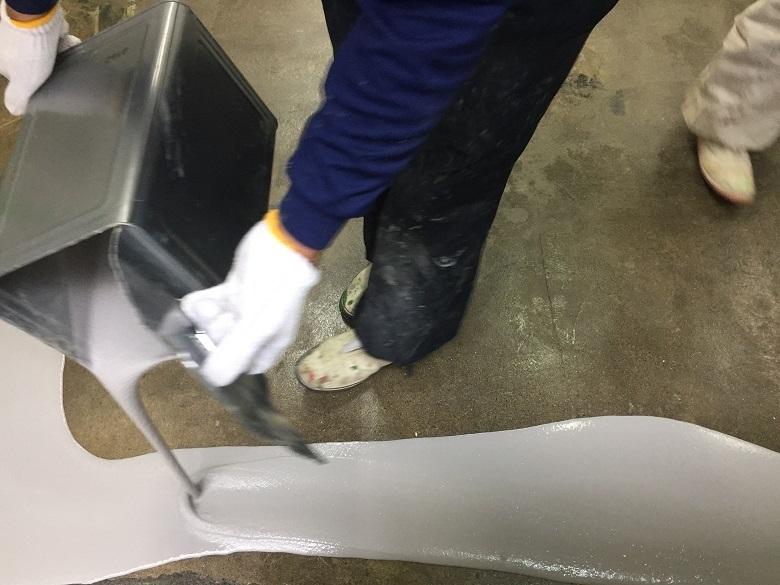 千葉県柏市の伊勢屋(和菓子屋さん)の塗床(床塗装工事)