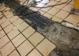 千葉缶柏市の和菓子店「伊勢屋」タイルの剥がれを塗床で改修工事