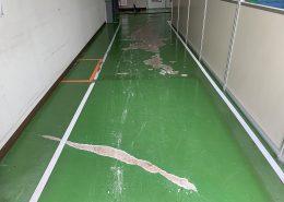 茨城県つくばみらい市の工場床塗装(塗床)工事