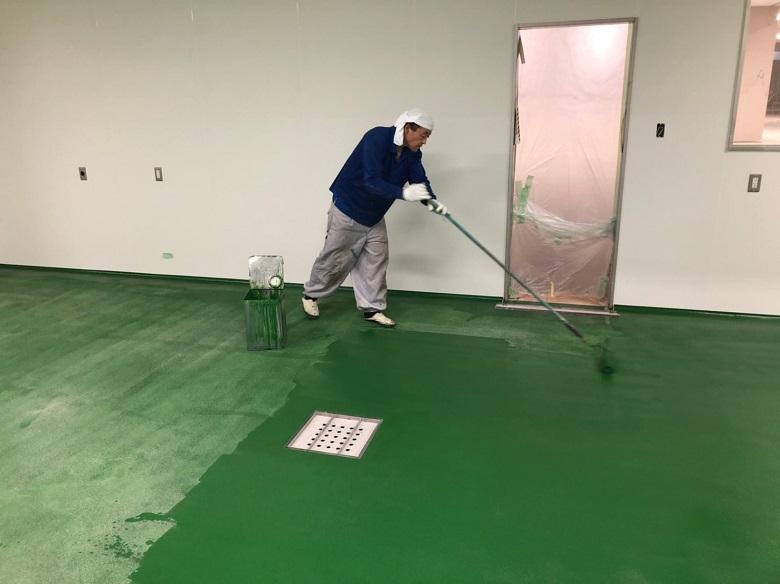 神奈川県小田原市内のスーパーマーケット精肉作業室塗床
