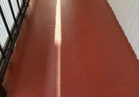 神奈川県横浜市の集会所|通路・外階段防滑床塗装(塗床)を施工:ケミクリートE