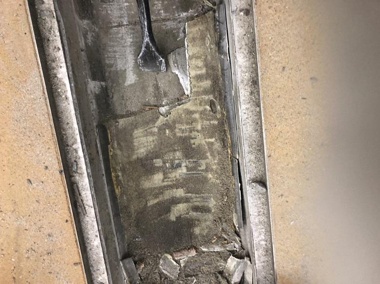 神奈川県川崎市の工場|側溝耐熱塗床(床塗装):タフクリートMW工法