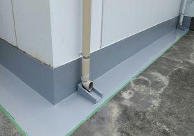 東京都港区の病院|屋上ウレタン防水(塗床)工事:ポリメタイト