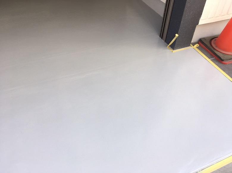 東京都墨田区の吉兼様マンションガレージ床塗装(塗床)