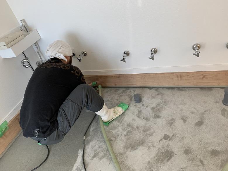 埼玉県越谷市「菓子工房タナカ」様|ケーキ工場掃除が楽な床塗装(塗床)に塗替え工事
