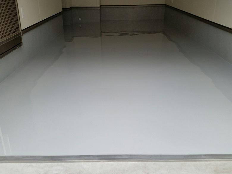 千葉県千葉市の井手様邸|ガレージ(駐車場)コンクリート床塗装(塗床):ケミクリートE