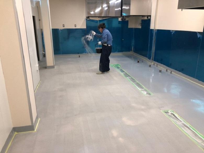 東京都品川区のケーキ(洋菓子)工場|床塗装(塗床)工事:ケミクリートE