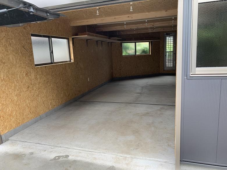 東京都国分寺市の個人邸ガレージ(駐車場) 床塗装(塗床):ケミクリートEPカラー
