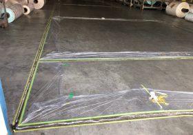 神奈川県厚木市の紙倉庫コンクリート床|段差修正:塗床(ケミクリートMS)